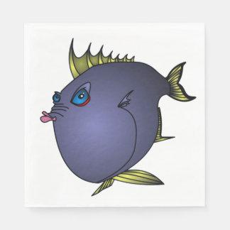 """""""Charlene"""" Fische mit Haltung durch Mike Quinn Papierserviette"""