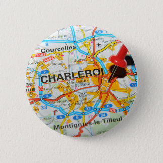 Charleroi, Belgien Runder Button 5,7 Cm