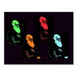 Charles Darwin-Collage Postkarte