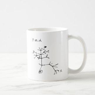 Charles Darwin - ich denke (Schwarzes) Kaffeetasse