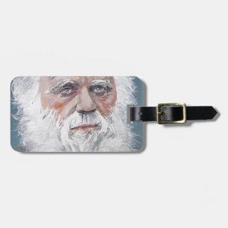 Charles Darwin - Ölporträt Gepäckanhänger