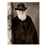Charles Darwin-Postkarte