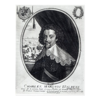 Charles de Luynes Marquis d'Albert Postkarte