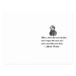 Charles Dickens unser Zitat des gegenseitigen Postkarte