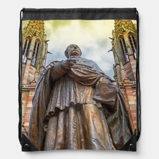 Charles-Emile Freppel Statue, Obernai, Frankreich Sportbeutel