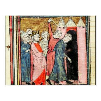 Charles Martel kümmert sich um Bestrafung Postkarte