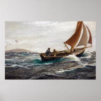 Charles Napier Hemy mit Wind und Gezeiten Poster