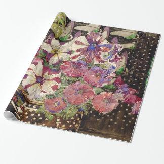 Charles Rennie Mackintosh - Petunien Geschenkpapier