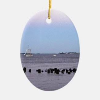 Charleston-Bucht Ovales Keramik Ornament