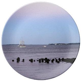 Charleston-Bucht Porzellanteller