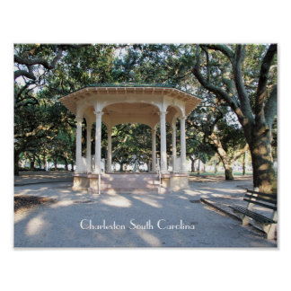 Charleston South Carolina, Gazebo, Batterie Poster