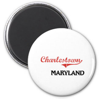 Charlestown Maryland Stadt-Klassiker Runder Magnet 5,7 Cm