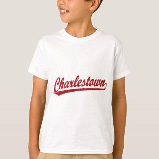 Charlestown Skriptlogo im Rot Shirts