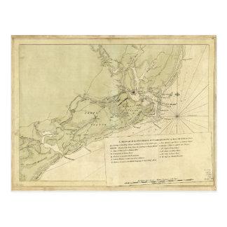 Charlestown South Carolina (1780) Postkarte