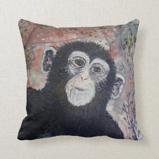 Charlie das Schimpanse KUNST-Kissen Kissen