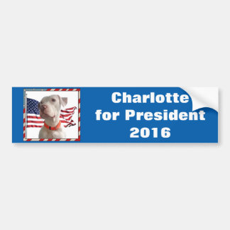 Charlotte für Präsidenten 2016 Autoaufkleber