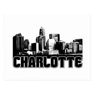 Charlotte-Skyline Postkarte