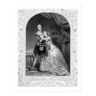 Charlotte und Susan Cushman als Romeo und Juliet, Postkarte
