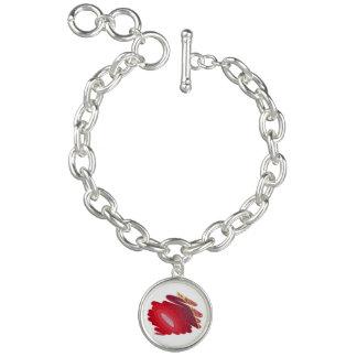 Charme-Armband-Rot-Spiralen-Kunst-Leidenschaft Armband