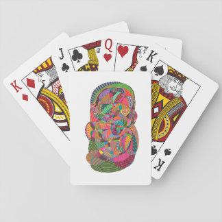 Chartas des Pokers mit Gestaltung von Abstract Ink Spielkarten