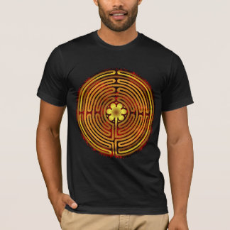 Chartres-Labyrinth-Feuer-doppelseitiges Shirt