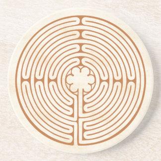 Chartres-Labyrinth Getränkeuntersetzer