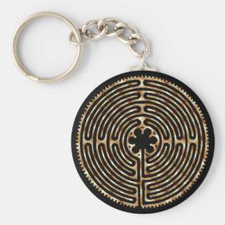 Chartres-Labyrinth-Perlen-dunkle Wege Keychain Schlüsselband