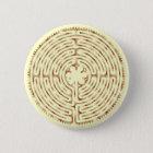 Chartres-Labyrinth-Perlen-Knopf Runder Button 5,7 Cm