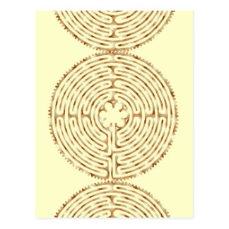 Chartres-Labyrinth-Perlen-Postkarte Postkarte