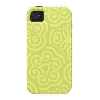 Chartreuse abstraktes Muster Vibe iPhone 4 Cover