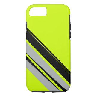 Chartreuse gelbes Limones schwarzes sportliches iPhone 8/7 Hülle