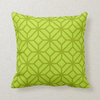 Chartreuse geometrisches gestreiftes Akzent-Kissen Kissen