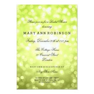 Chartreuse Glitter beleuchtet elegantes Brautparty 12,7 X 17,8 Cm Einladungskarte