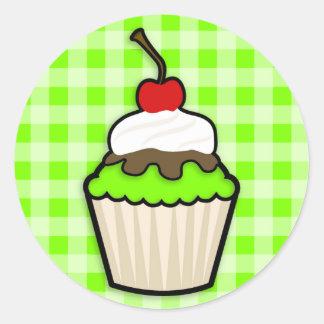 Chartreuse, grüner Neonkleiner Kuchen Runder Aufkleber