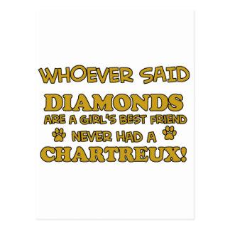 chartreux besser als Diamanten Postkarte