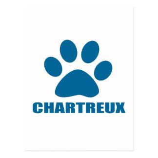 CHARTREUX CAT-ENTWÜRFE POSTKARTE