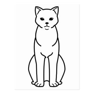 Chartreux Katzen-Cartoon Postkarte