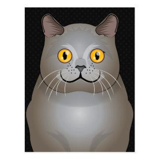 Chartreux Katzen-Cartoon-Tatzen Postkarte