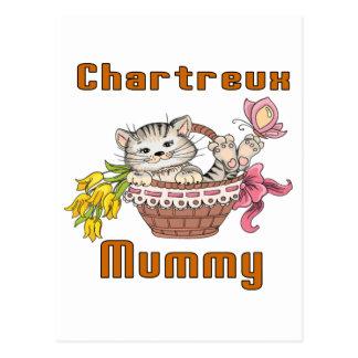 Chartreux Katzen-Mamma Postkarte