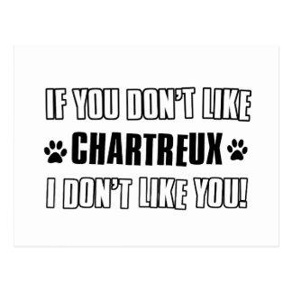 Chartreux Katzenentwurf Postkarte
