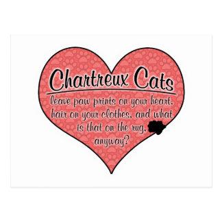 Chartreux Tatze druckt Katzen-Spaß Postkarte