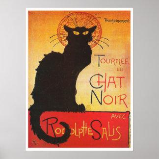 Chat Noir durch Steinlen Vintage französische Poster