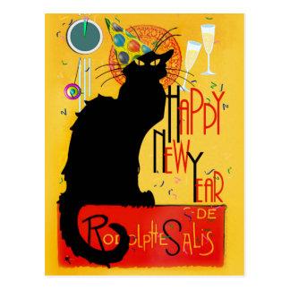 Chat-Noir glückliches neues Jahr Postkarte