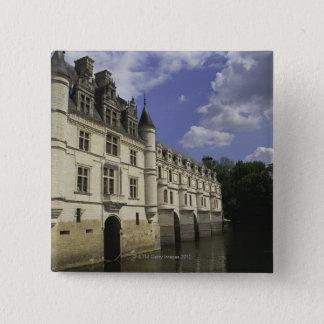 Chateau de Chenonceau in Frankreich Quadratischer Button 5,1 Cm