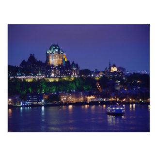 Chateau Frontenac Schloss-Nachtquebec-Postkarte Postkarte