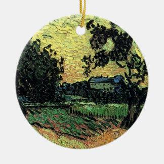Chateau Van- Goghlandschaftw von Auvers am Keramik Ornament