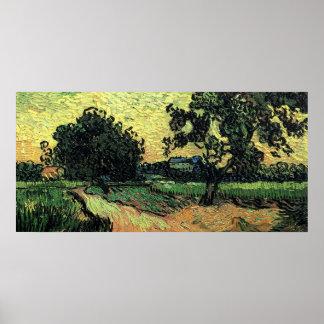 Chateau Van- Goghlandschaftw von Auvers am Poster
