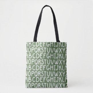 Chaulkoard Alphabetdruck ganz über Taschentasche Tasche