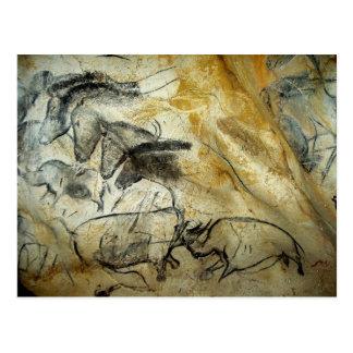 Chauvet Lascaux Höhlenpferde-und -tierepostkarte Postkarte