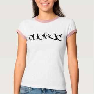 CHCFUC Graffitischwarzes T-Shirt